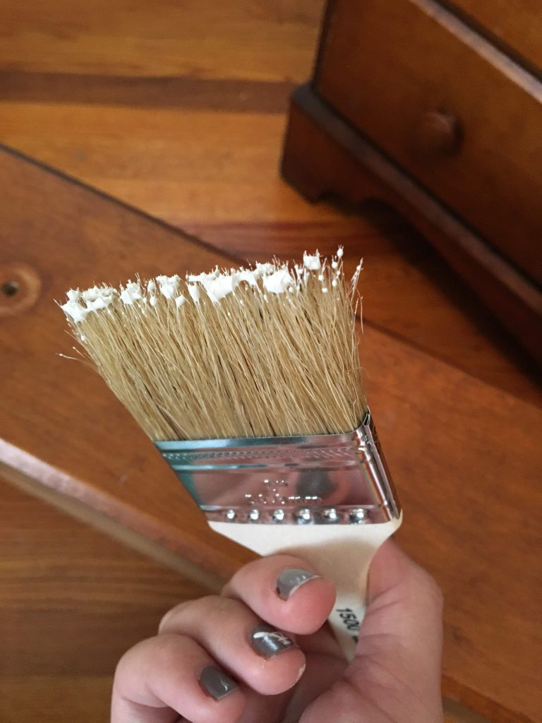 paintbrush of the diy dresser