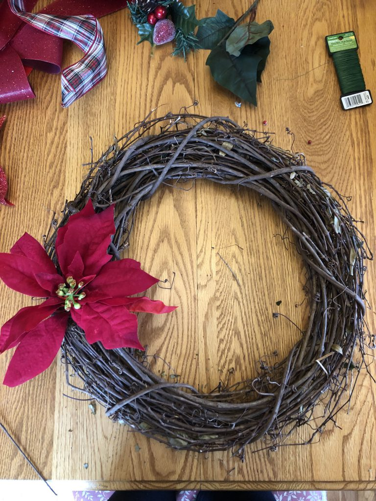christmas wreath flower