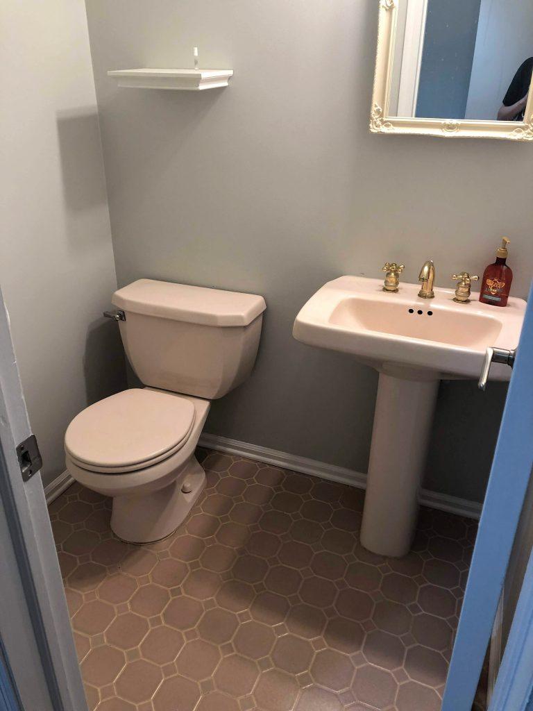 DIY half-bath renovation