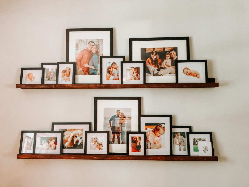 DIY picture ledge