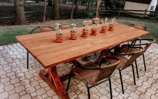 DIY Outdoor farmhouse table ana white