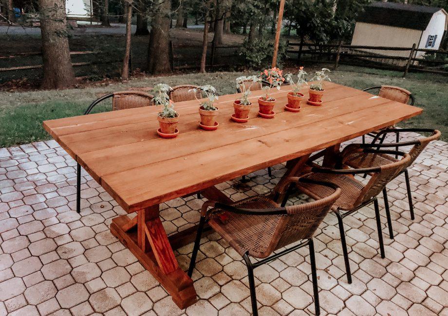 DIY Outdoor farmhouse table ana white